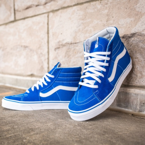 94fc762487 VANS SK8-HI Suede Canvas Imperial Blue W AUTHENTIC